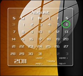 Clear calendar