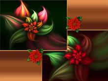 Christmas Poinsettias Wall Pack