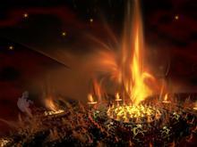 Halloween Goblins Bonfire