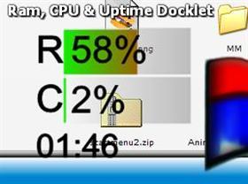 RAM, CPU & Uptime Docklet