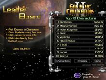 GalCiv II Leader Board