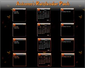 Autumn's Rainlendar Pack