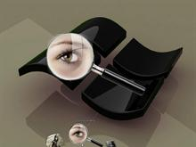 Magnifying Glass and Blinking Eye