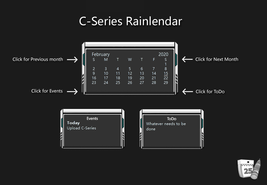 C-Series Rainlendar