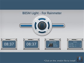 B85M Light Rainmeter