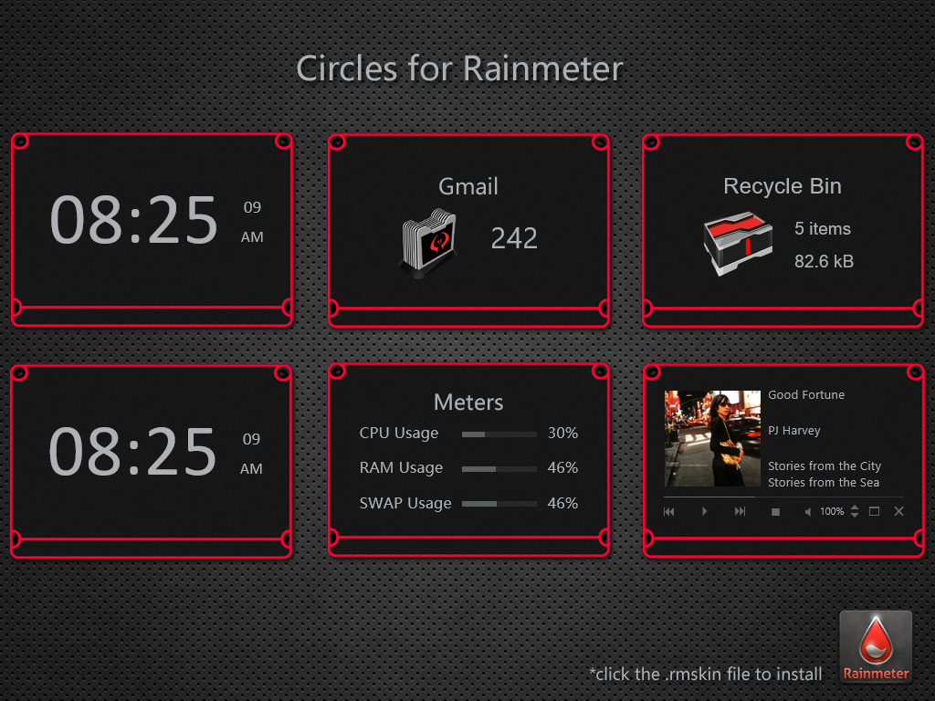 Circles Rainmeter