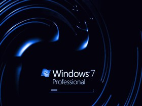 Windows 7 Pro Dark Blue Swirl v1