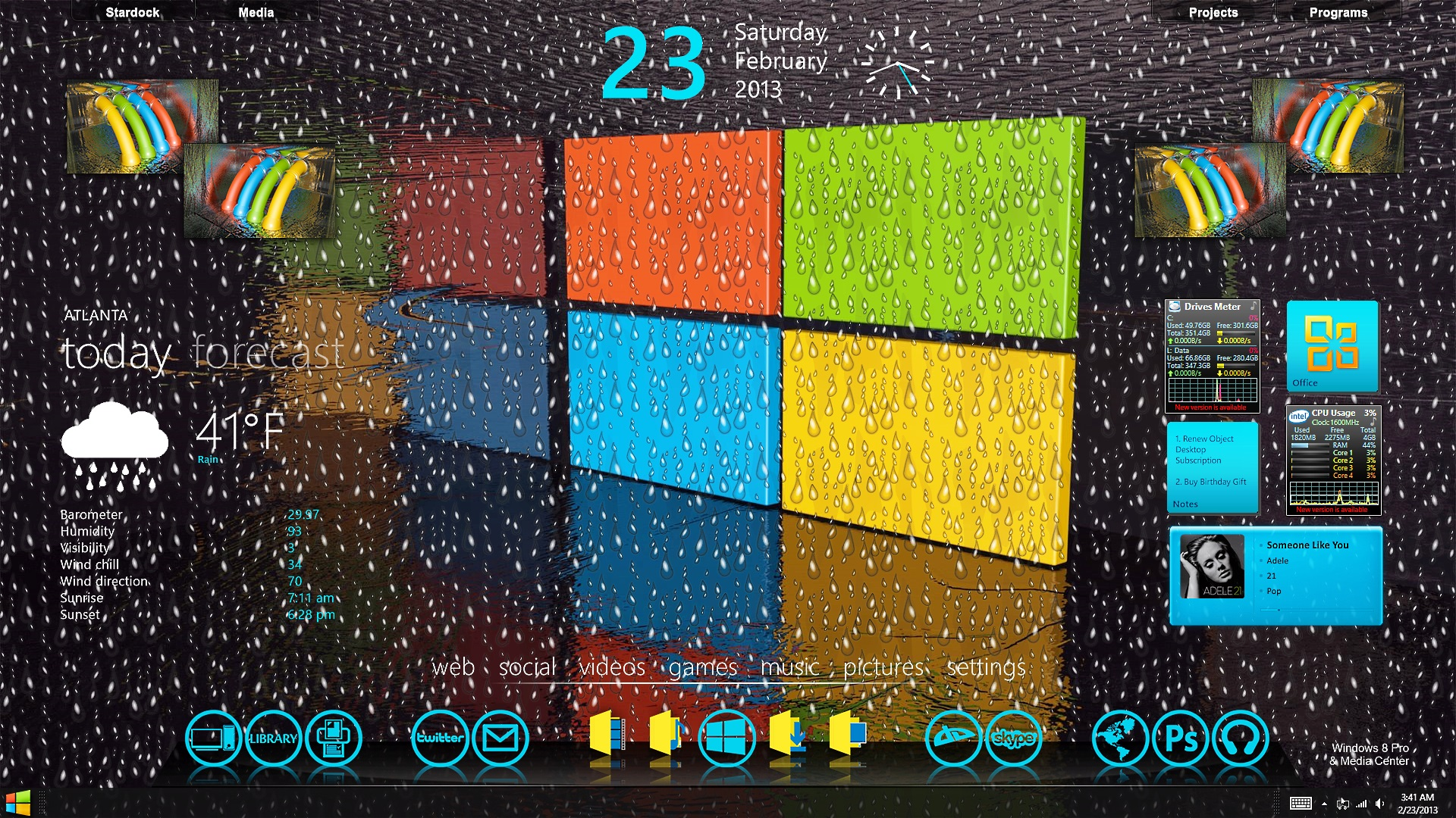 Windows 8 Pro Wet