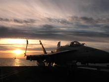 F-18 at Sunset