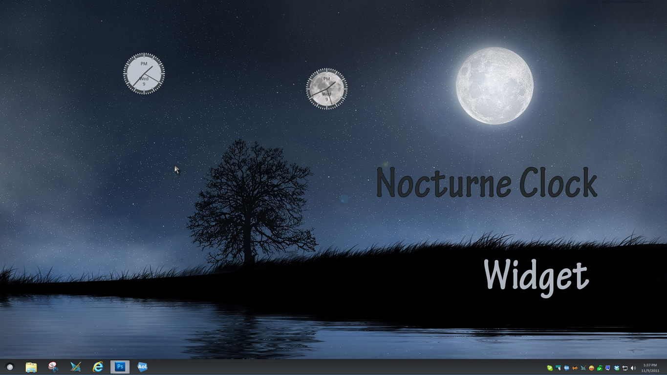 Nocturne Clock Widgets