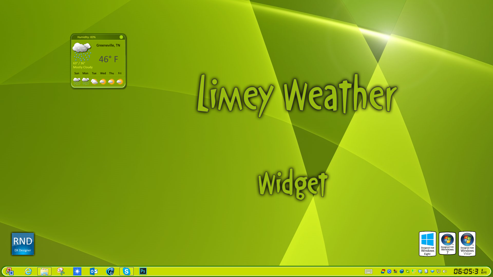 Limey Weather Widget