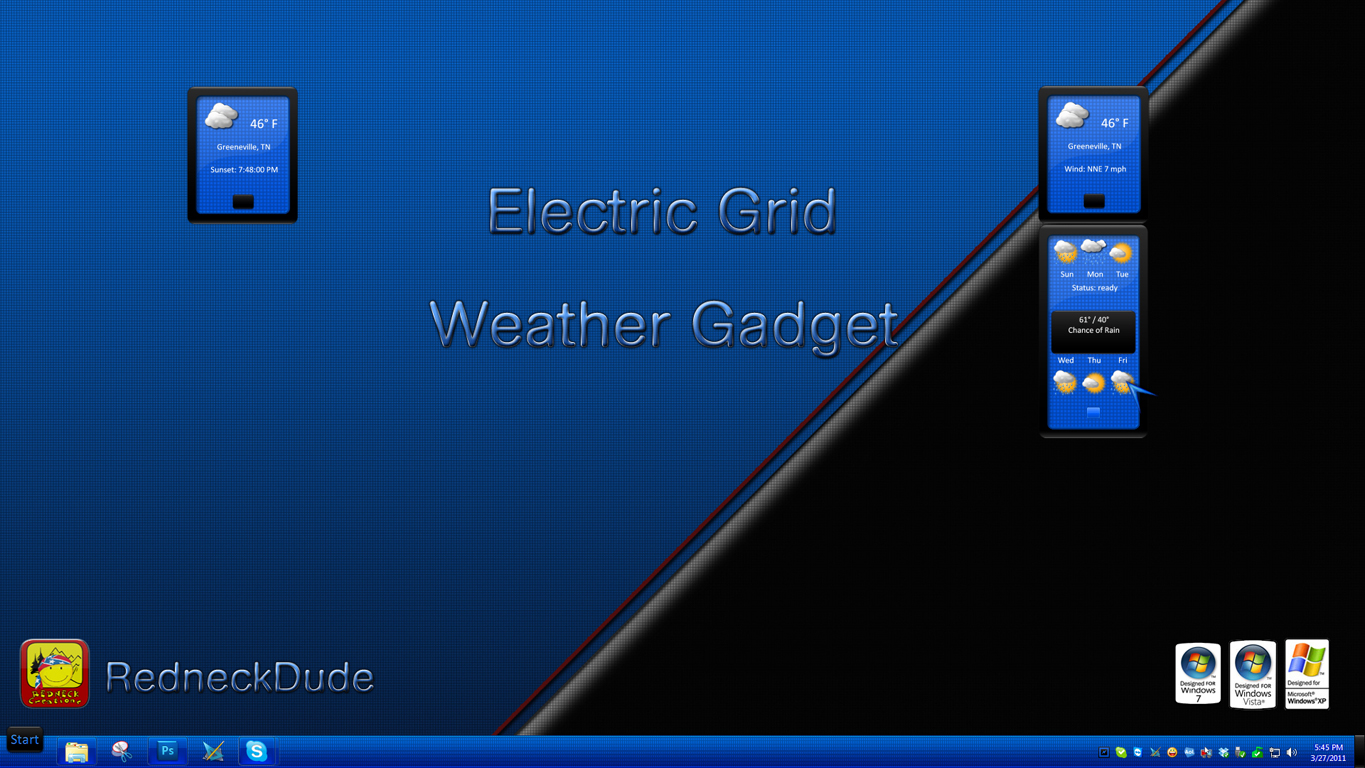 Electric Grid Weather Gadget