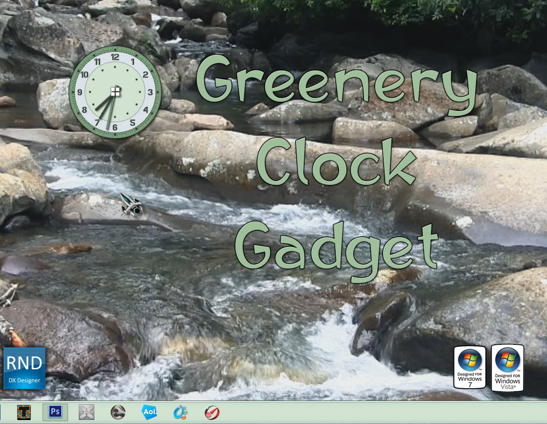Greenery Clock Gadget