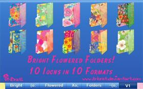 Bright Flowered Folders 1